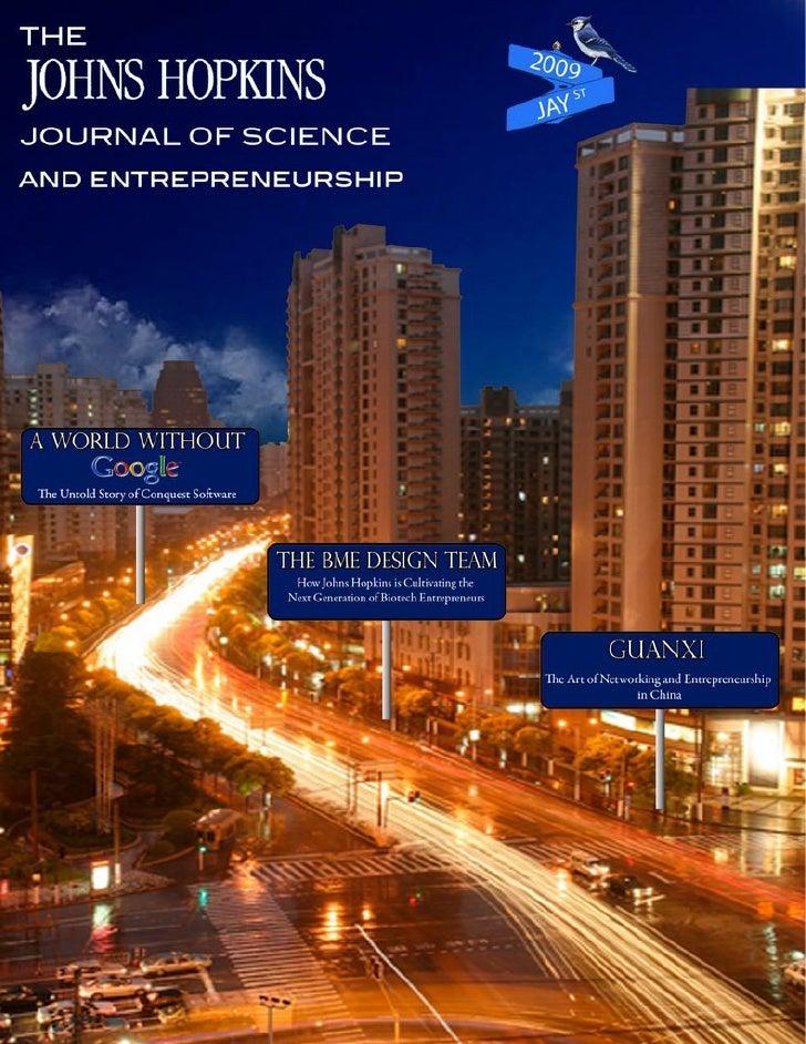 The Johns Hopkins Journal of Science and Entrepreneurship 2009
