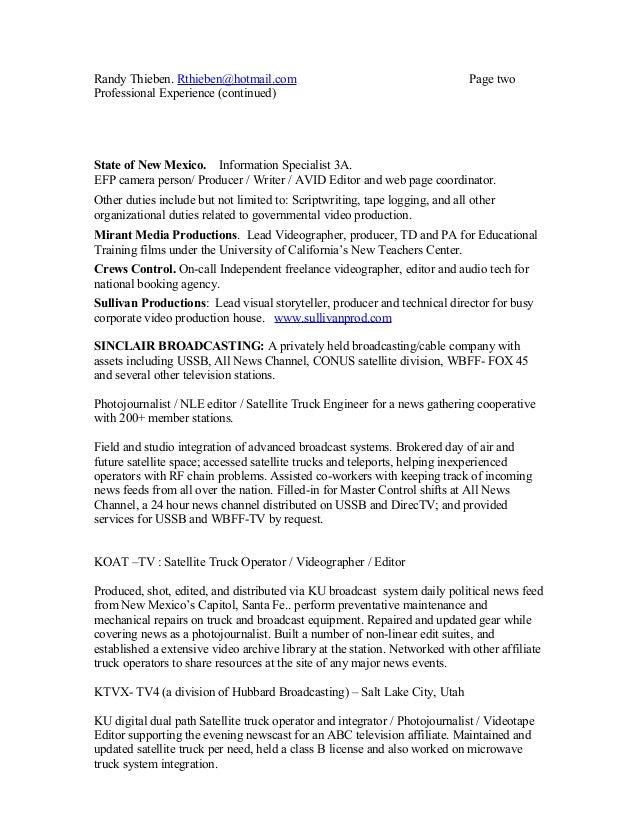 jay thieben resume 0711