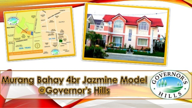 Affordable House and Lot Jazmine Model 4 BR in Cavite