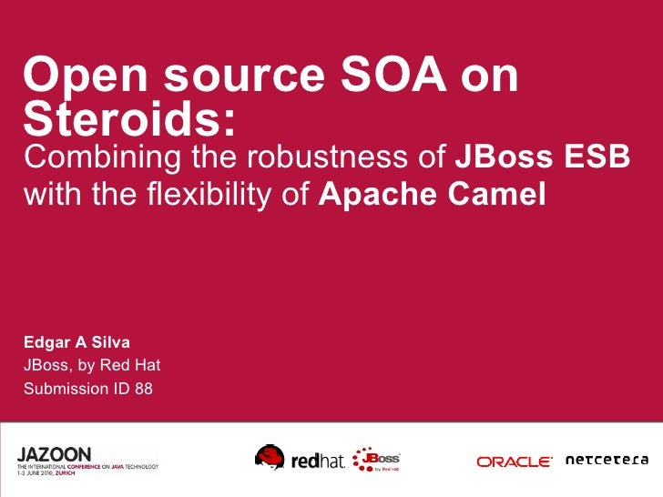 Open source SOA on Steroids: Combining the robustness of  JBoss ESB  with the flexibility of  Apache Camel Edgar A Silva J...