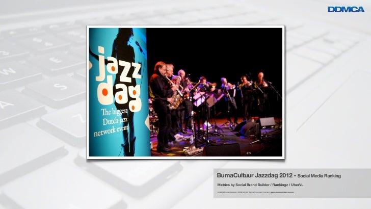 Social Media Rankingvoor Artiesten & Bands              BumaCultuur Jazzdag 2012 - Social Media Ranking              Metri...