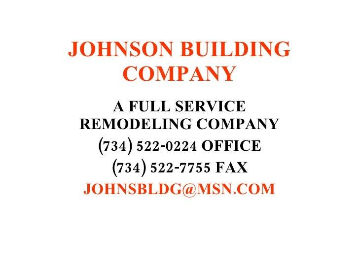 Johnson Building Company