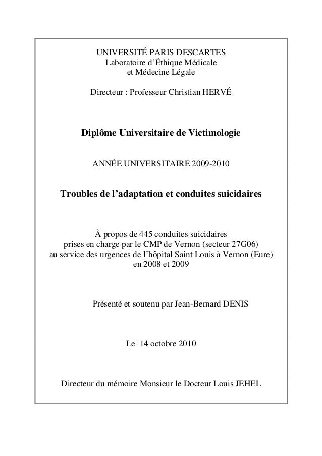 UNIVERSITÉ PARIS DESCARTESLaboratoire d'Éthique Médicaleet Médecine LégaleDirecteur : Professeur Christian HERVÉDiplôme Un...