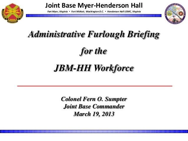 JBM-HH Administrative Furlough Town Hall slides