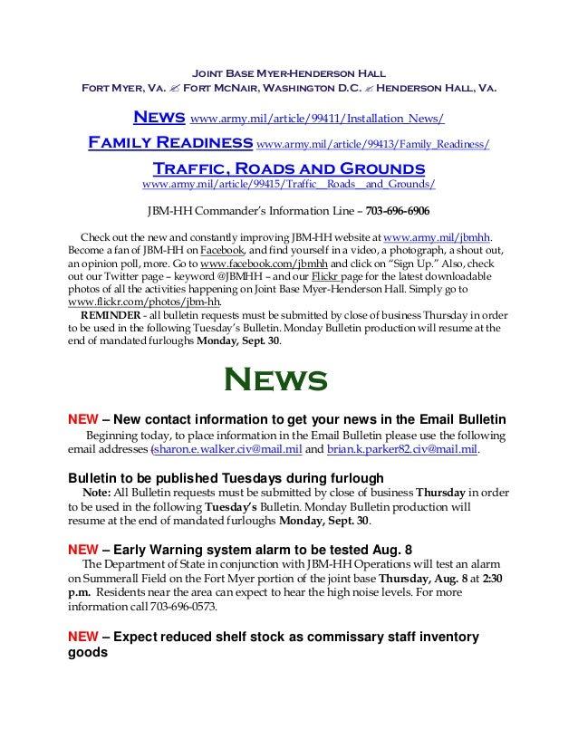 JBM-HH Bulletin August 6, 2013