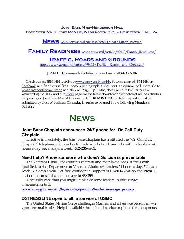 Joint Base Myer-Henderson Hall Fort Myer, Va.  Fort McNair, Washington D.C.  Henderson Hall, Va. News www.army.mil/artic...