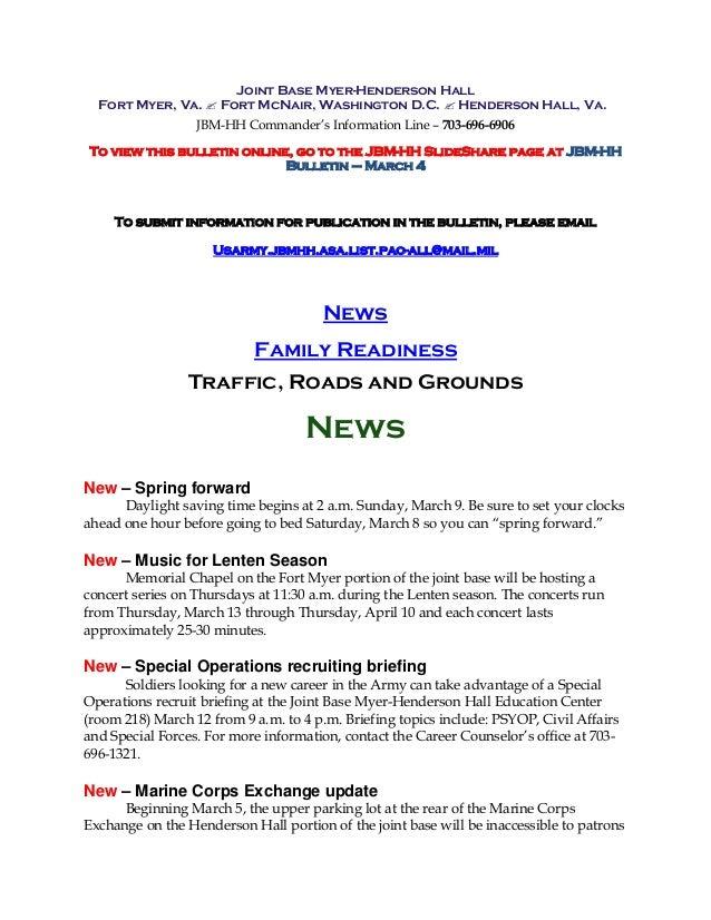 JBM-HH Bulletin March 4