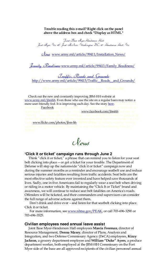 Jbm hh bulletin may 28, 2013