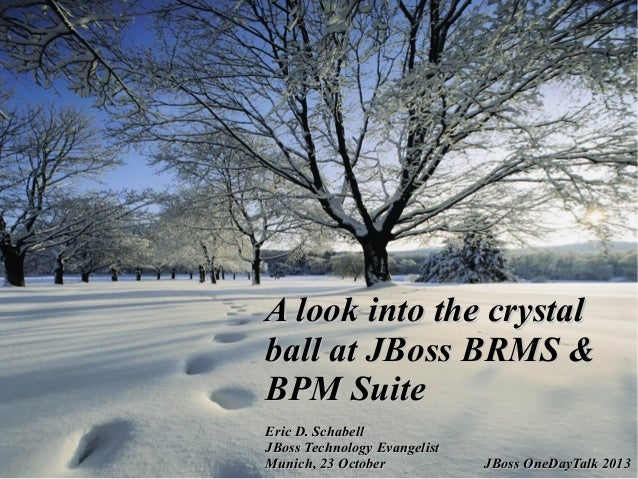 A look into the crystal ball at JBoss BRMS and BPM Suite
