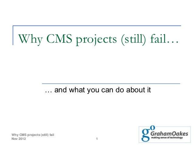 JBoye: Why cms projects still fail - 20 nov 2012