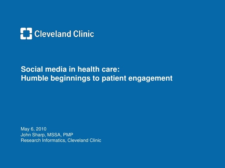 Social Media in Health Care - Engagement