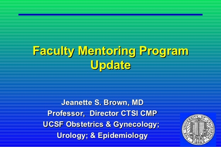 Faculty Mentoring at the University of California