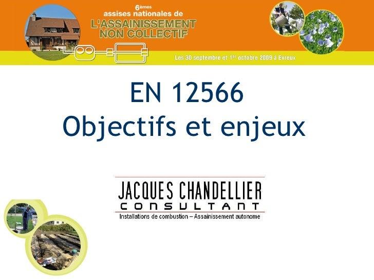 EN 12566 Objectifs et enjeux