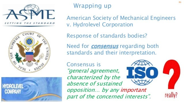 asme vs hydrolevel case The case of the american society of mechanical engineers (asme) vs  hydrolevel corp shows how easily individuals, companies, and professional  societies.