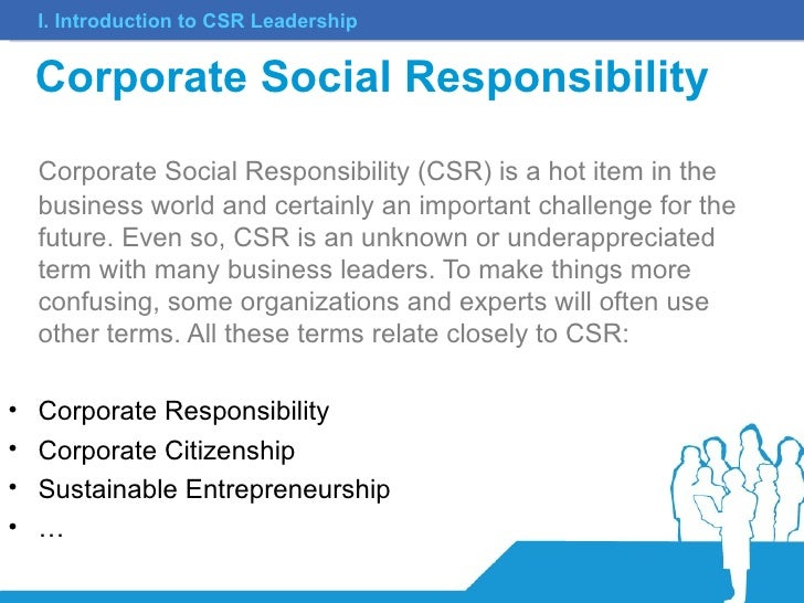 corporate social responsibility task 1 Though the pursuit of social responsibility and ethical marketing does not automatically translate into increased profit, it is still the responsibility of the firm to ensure it is responsible for its actions and their impact on society this article will study, 1) understanding business ethics and socially responsible marketing, 2) developing and.