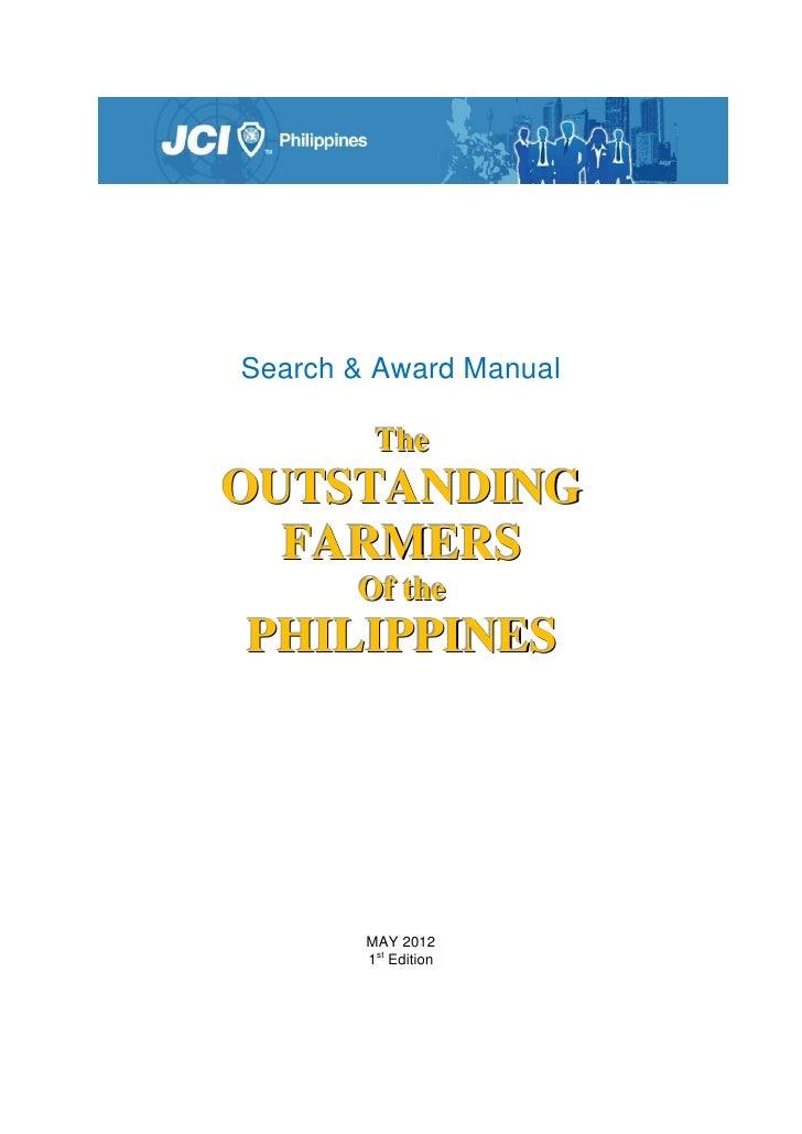 JCI Philippines TOFARM Awards Manual