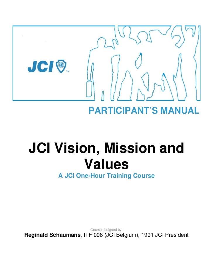 Jci vision, mission and values   manual-eng