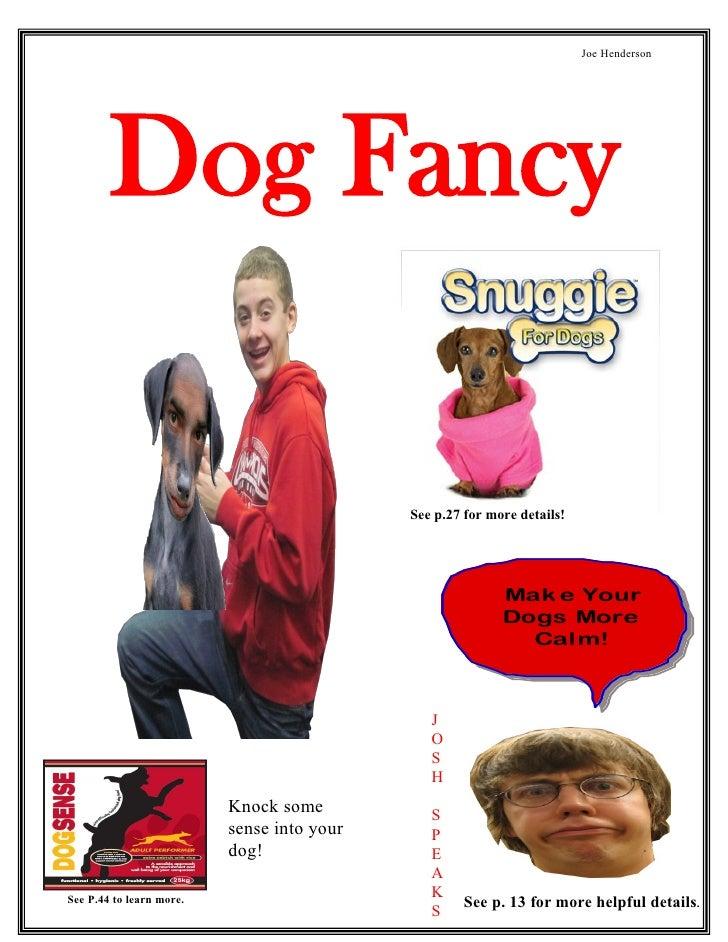 Joe Henderson             Dog Fancy                                              See p.27 for more details!               ...