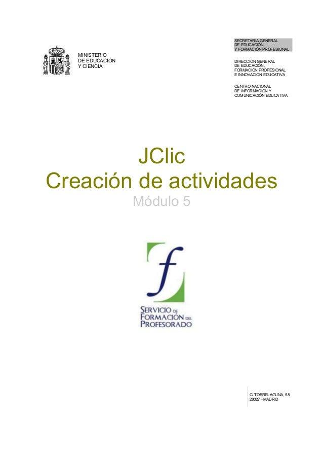 MINISTERIO DE EDUCACIÓN Y CIENCIA SECRETARÍA GENERAL DE EDUCACIÓN Y FORMACIÓN PROFESIONAL DIRECCIÓN GENERAL DE EDUCACIÓN, ...