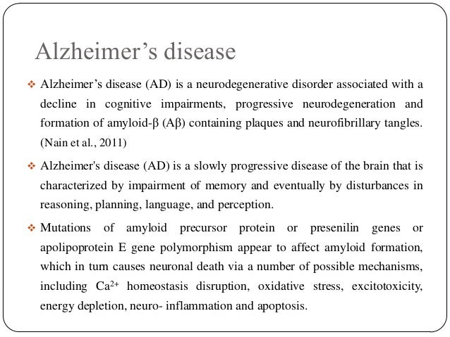 """the triggers progression and treatment of alzheimers disease The progression of alzheimer's disease no cure for alzheimer's disease however, there are treatment options with the disease talk about """"triggers."""