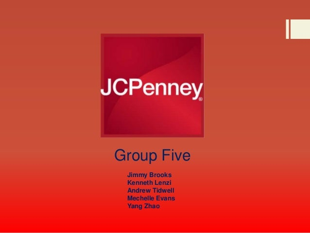 Group Five Jimmy Brooks Kenneth Lenzi Andrew Tidwell Mechelle Evans Yang Zhao