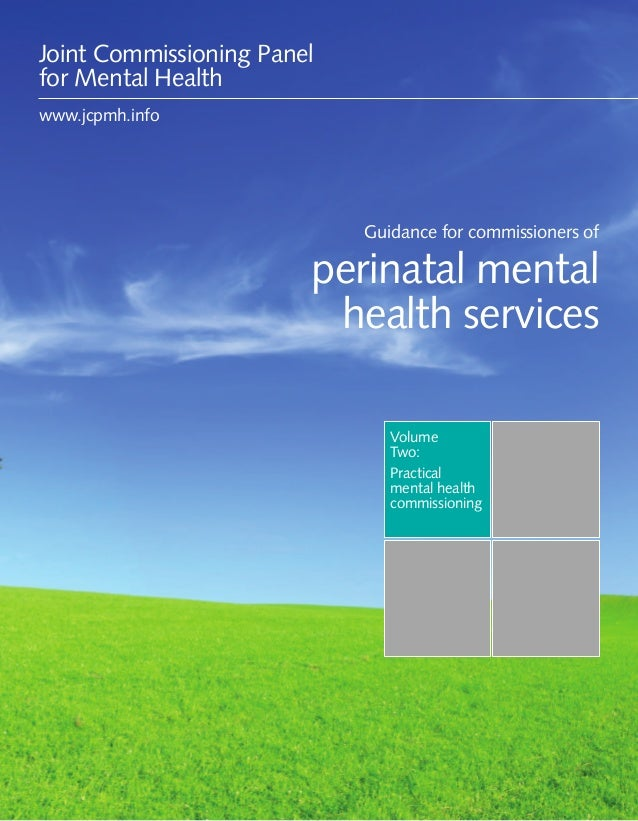 Guidance for commissioners of perinatal mental health services 1VolumeTwo:Practicalmental healthcommissioningGuidance for ...