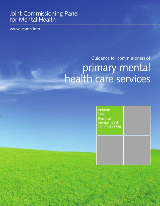 Guidance for commissioners of primary mental health services