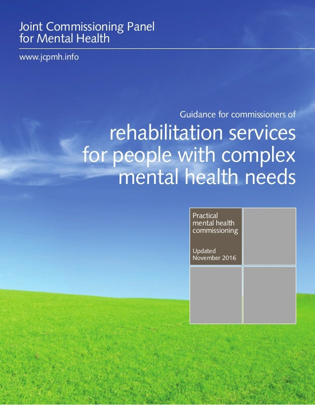 Guidance for commissioners of rehabilitation services