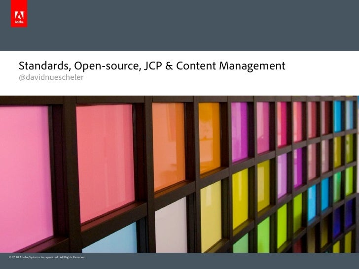 NLJUG: Content Management, Standards, Opensource & JCP