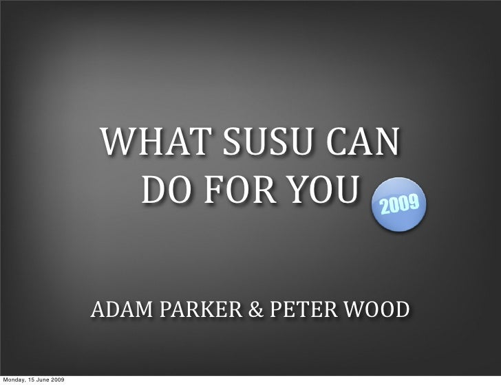 What SUSU can do for you