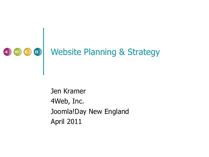 Website Strategy & Planning: Joomla Day New England 2011