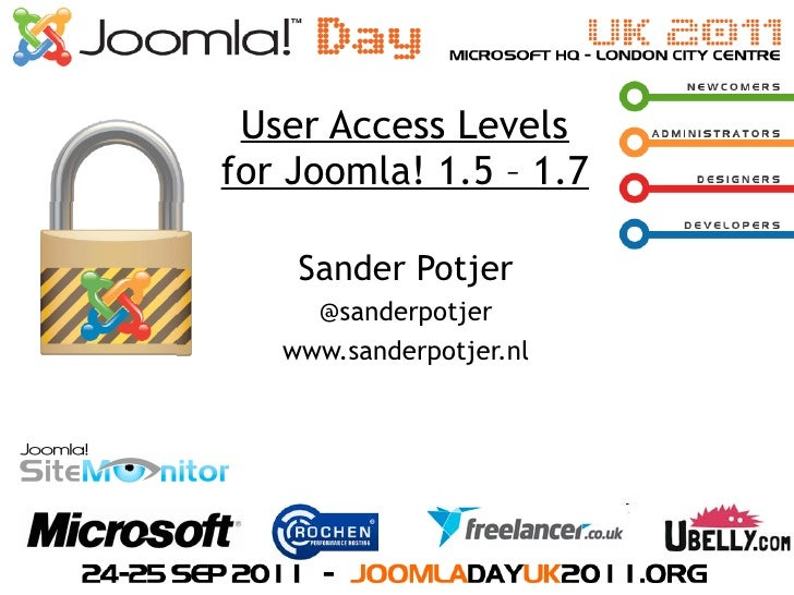 Joomla Access Control List (ACL) at JoomlaDay London, UK #jduk11