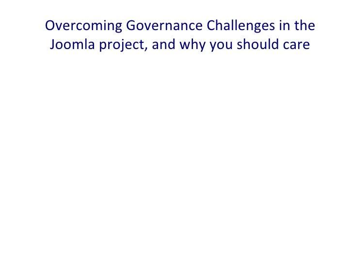 Joomla Governance - Paul Orwig #jd12nl
