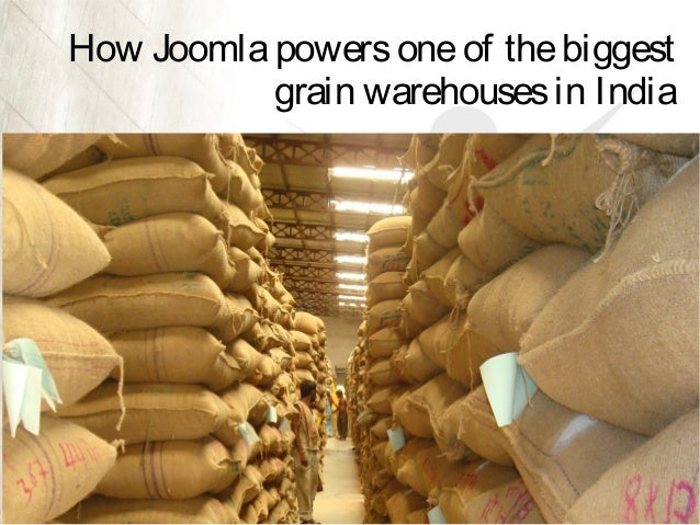 How Joomla powers one of the biggest grain warehouses in India