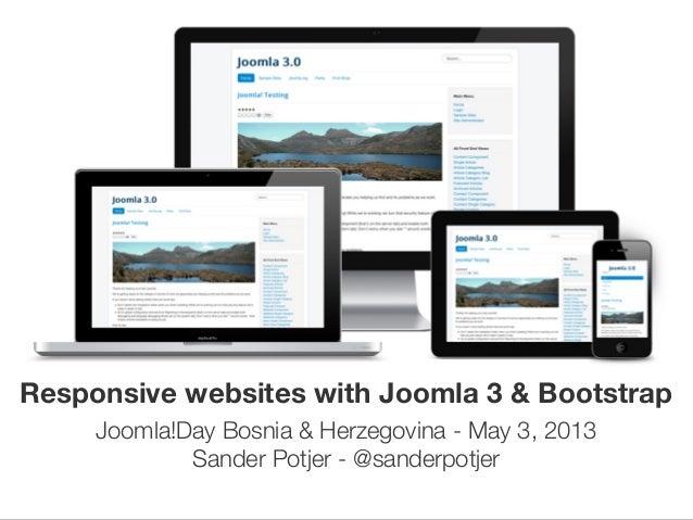 Responsive websites with Joomla 3 & Bootstrap #jd13ba