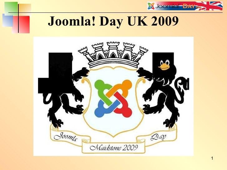 Joomla! Day UK 2009 Menus Presentation