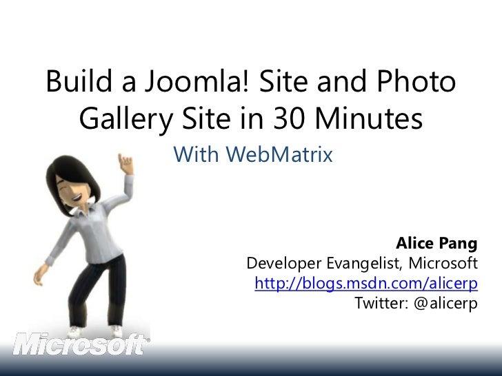 Joomla! Day Los Angeles 2011 WebMatrix