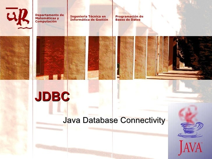 JDBC Java Database Connectivity