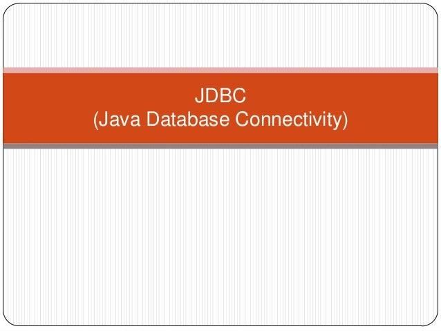 JDBC(Java Database Connectivity)