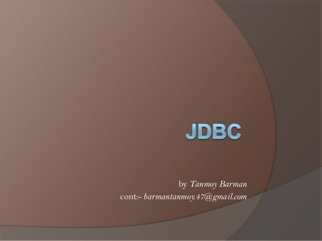 JDBC: java DataBase connectivity