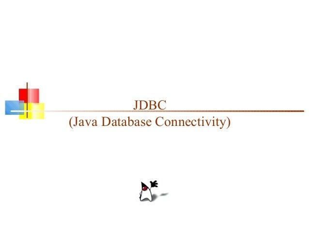 Jdbc (database in java)