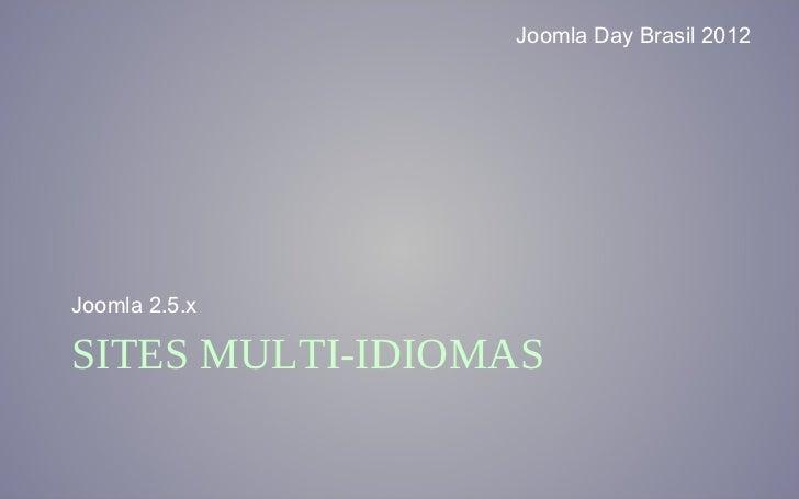 Joomla 2.5.x Multiidioma