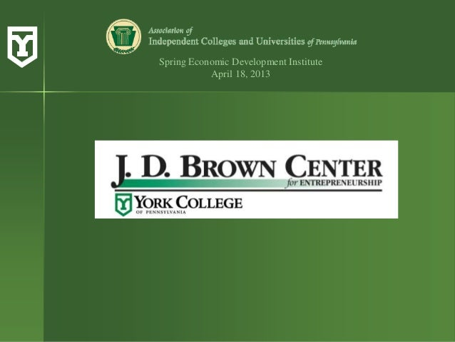 Spring Economic Development InstituteApril 18, 2013