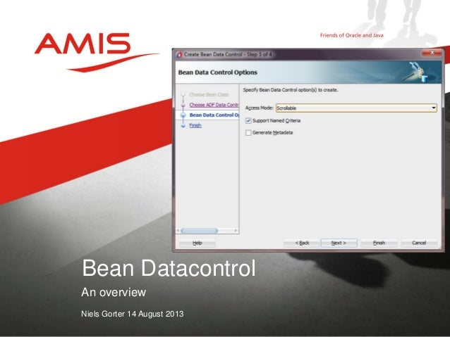 Oracle 12c Launch Event 04  Niels Gorter Bean Data Control