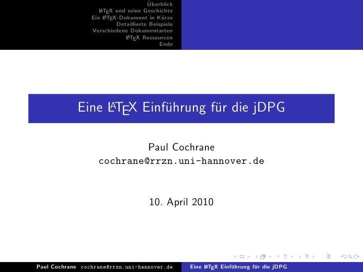 Jdpg Latex Vortrag 2010