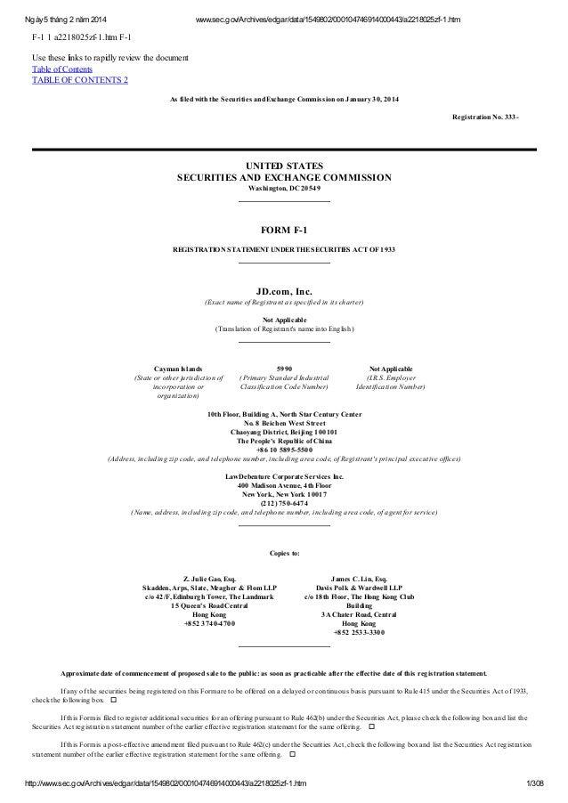 Ngày 5 tháng 2 năm 2014  www.sec.gov/Archives/edgar/data/1549802/000104746914000443/a2218025zf-1.htm  F-1 1 a2218025zf-1.h...