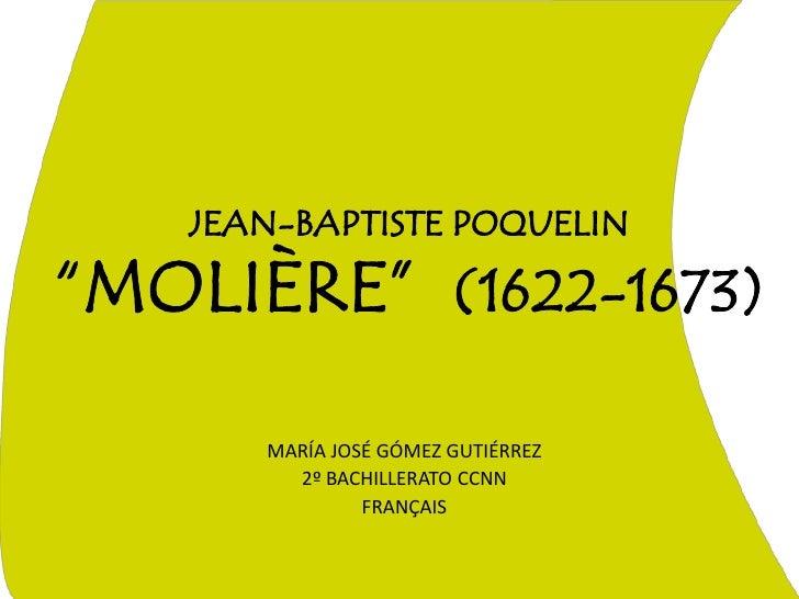 Jean baptiste poquelin