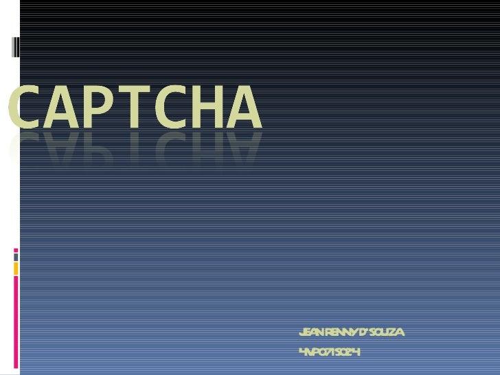 Jean captcha-ppt