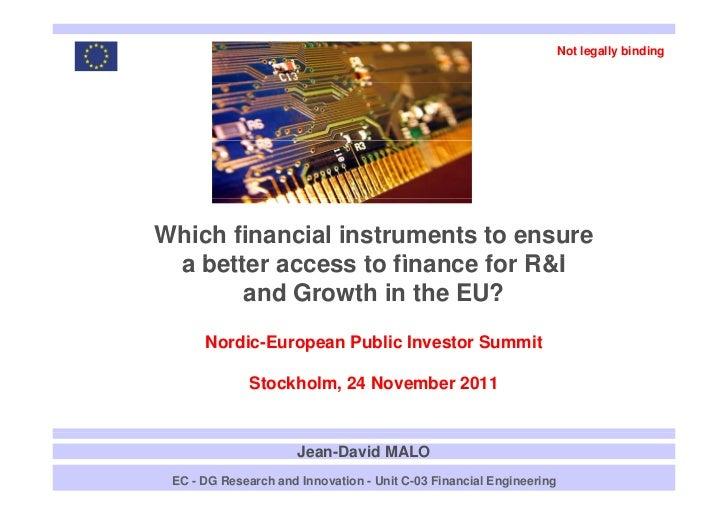 Jean-David Malo DG Research Innovation