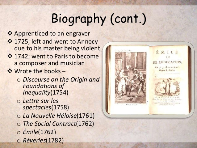 the life and career of jean jacques rousseau Jean-jacques rousseau was born to suzanne bernard and isaac rousseau on june 28, 1712, in geneva, switzerland nine days later his mother died at the age of three, he was reading french novels with his father, and jean-jacques acquired his passion for music from his aunt his father fled geneva to.